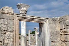 希腊语殖民地Khersones废墟  库存图片