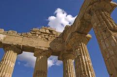 希腊语的列 免版税库存图片