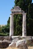 希腊语的列 免版税图库摄影