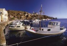 希腊语的小船 库存图片