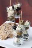 希腊语的开胃菜 库存照片