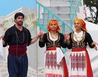 希腊语的舞蹈演员 图库摄影