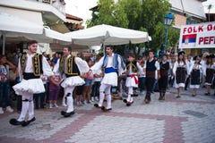 希腊语的舞蹈演员 库存照片