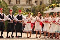 希腊语的舞蹈演员 免版税图库摄影