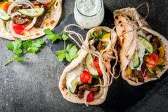希腊语被包裹的三明治电罗经 库存照片