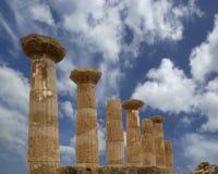 希腊语heracles遗骸寺庙 库存照片