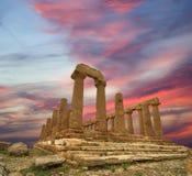 希腊语juno寺庙 库存照片