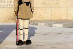 希腊语Tsolias 免版税库存图片