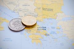 希腊金融危机 免版税库存图片