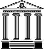 希腊钢板蜡纸寺庙第三个变形 库存图片