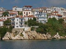 希腊镇 免版税图库摄影