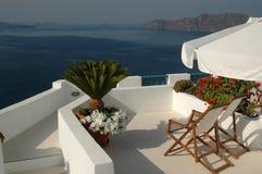 希腊难以置信的海岛santorini 免版税库存照片