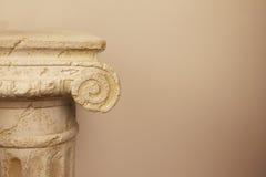 希腊雅典上城的考古学挖掘地方  库存照片