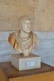 希腊雕象在上城博物馆在雅典,希腊 免版税库存图片