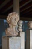 希腊雕象在上城博物馆在雅典,希腊 免版税库存照片