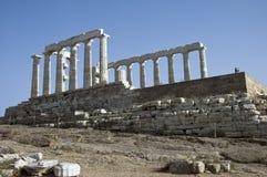 希腊风景寺庙视图 免版税图库摄影
