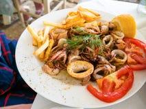 希腊食物 免版税库存照片