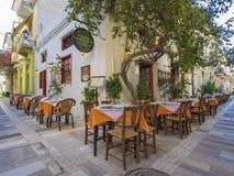 希腊餐馆外部 库存照片