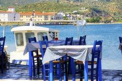 希腊餐馆 免版税库存图片