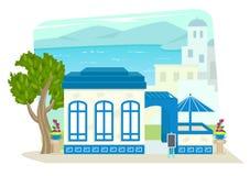 希腊餐馆 库存照片