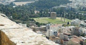 希腊首都雅典和印象深刻的都市风景鸟瞰图 影视素材