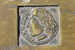 希腊马赛端口符号 库存照片