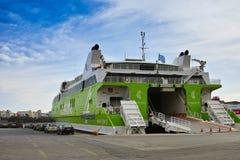 希腊高速游轮 库存照片