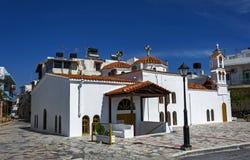 希腊,克利特,耶拉派特拉- 05/10/2015 :教会Afendis赫里斯托斯,修造在14世纪 免版税库存照片