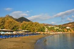 希腊,克利特,巴厘岛,海滩 免版税库存图片