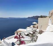 希腊,圣托里尼海岛,镇Oia 免版税图库摄影