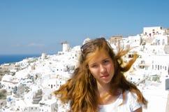 希腊,圣托里尼, OIA镇 图库摄影