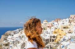 希腊,圣托里尼, OIA镇 免版税库存图片