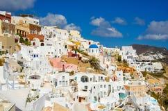 希腊,圣托里尼, OIA镇 免版税库存照片