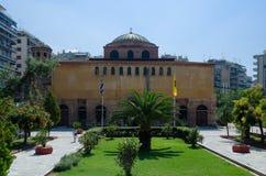 希腊,塞萨罗尼基,圣索非亚大教堂教会  免版税库存照片