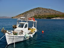 希腊,海岛Romvi的Tolo看法 免版税库存图片