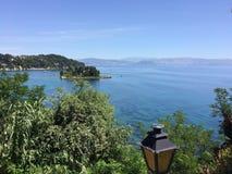 希腊,科孚岛,帕拉马,老鼠海岛 免版税库存照片