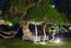 希腊,罗得岛- 7月11 :罗得岛赌博娱乐场的休息室区域2014年7月11日的在罗得岛,希腊 免版税库存图片