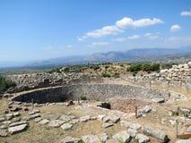 希腊,迈锡尼,古老石头保留记忆 免版税库存图片