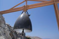 希腊,锡米岛教堂钟 免版税库存照片