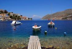 希腊,锡米岛海岛 免版税库存照片