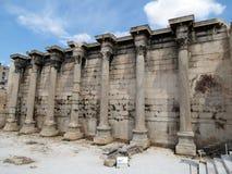 希腊,雅典,保持古老结构 库存照片