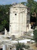 希腊,雅典,古老水塔 库存图片