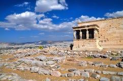 希腊,雅典,帕台农神庙 免版税库存照片