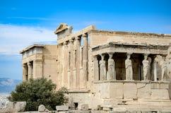 希腊,雅典- 2017年3月29日:Erechtheion 库存图片