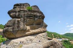 希腊,飞星,向圣Varlaam修道院的路  库存照片