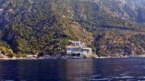 希腊, Athos,圣格雷戈里修道院  库存图片