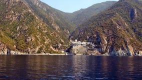 希腊, Athos, Dionysiou修道院  免版税库存照片