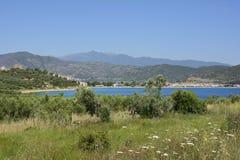 希腊, Eastmacedonia,卡瓦拉 库存图片