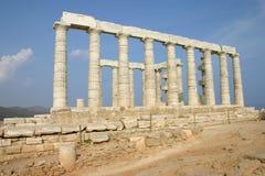 希腊, POSEIDON寺庙 免版税库存照片