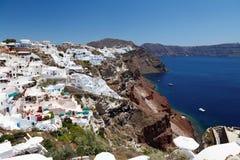 希腊, Santorini视图 免版税库存照片